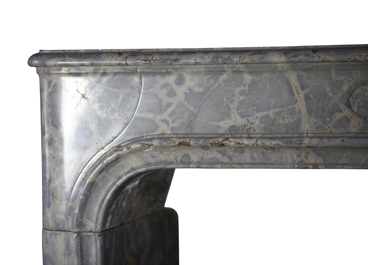 17th century louis xiv marble stone antique fireplace
