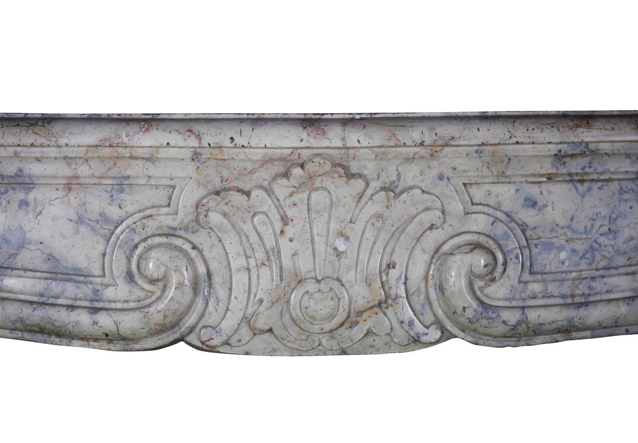 French 18th Century Unique Hardstone Antique Fireplace Mantel from the Regency Period For Sale