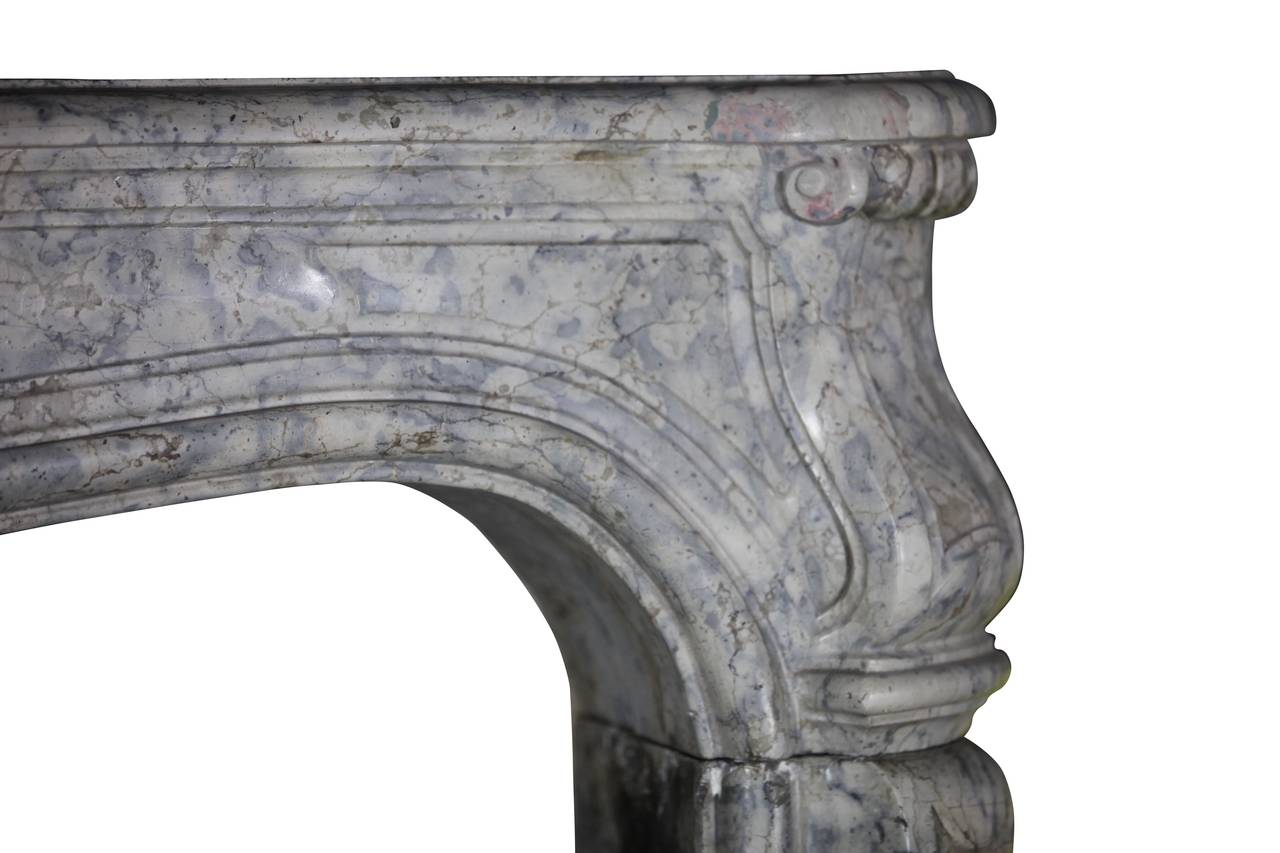 Carved 18th Century Unique Hardstone Antique Fireplace Mantel from the Regency Period For Sale