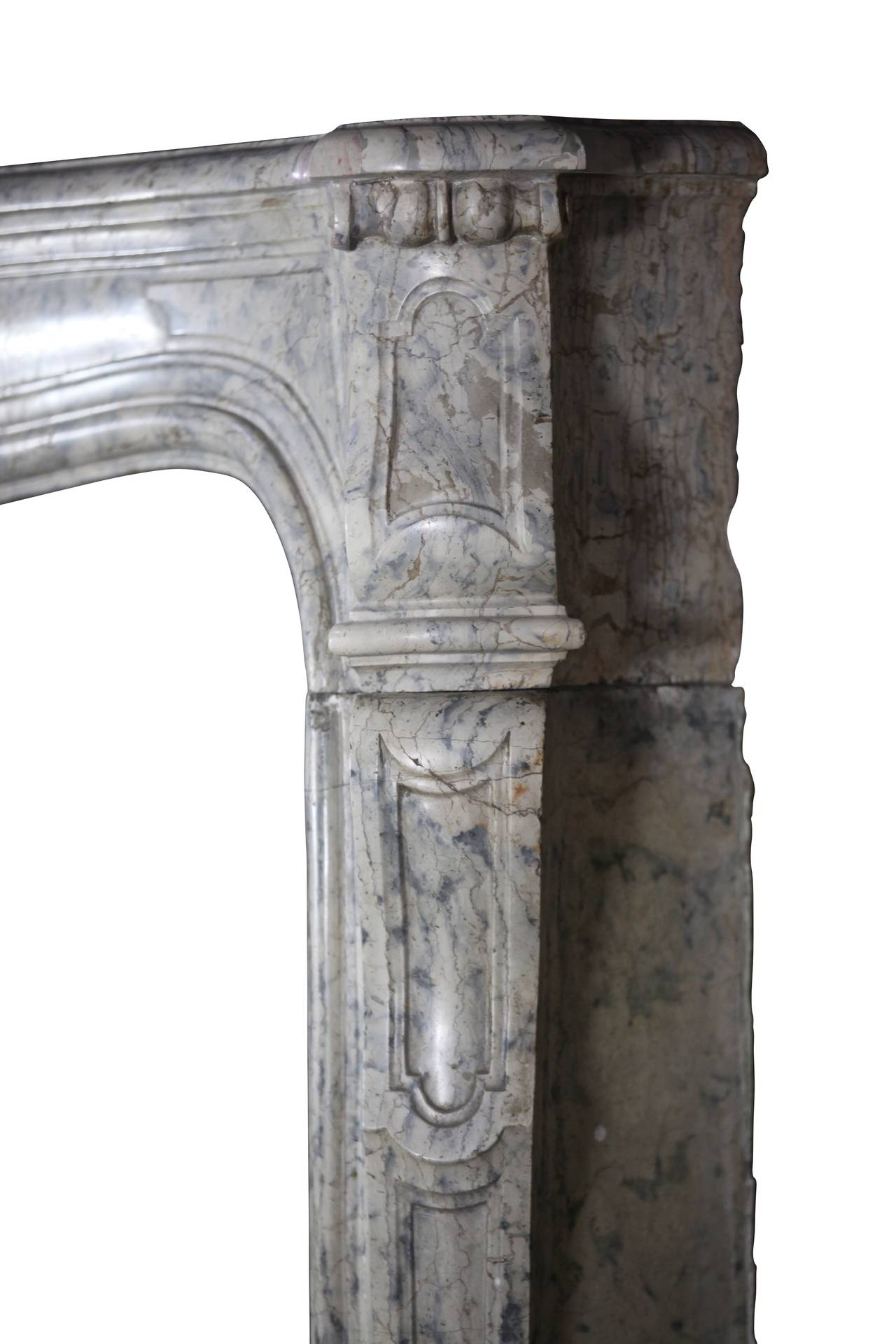 18th Century Unique Hardstone Antique Fireplace Mantel from the Regency Period In Excellent Condition For Sale In Beervelde, BE
