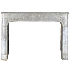 17th Century Louis XIV Marble Stone Antique Fireplace Mantel