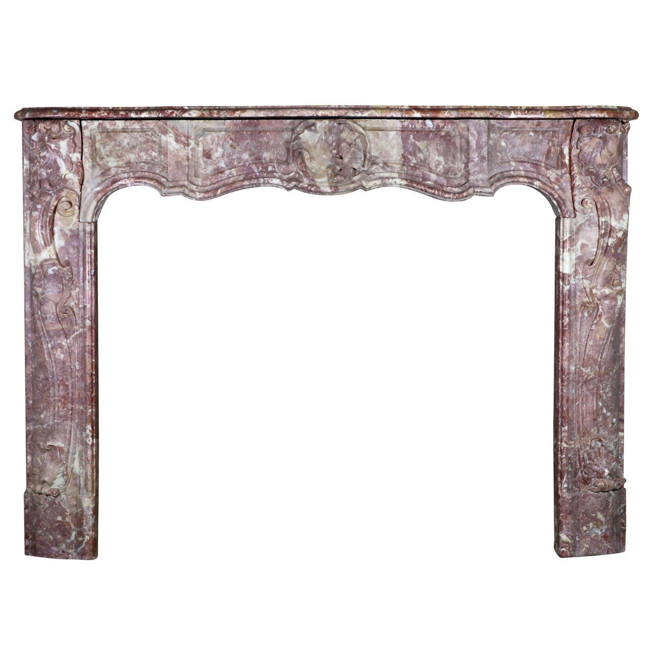 18th Century Italian Marble Antique Fireplace Mantel, Nicely Oxidated, Regency P