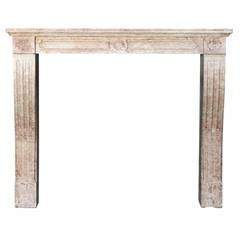 19th Century, Burgundy Hardstone Louis XVI Style antique fireplace  Mantel