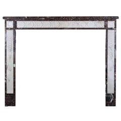 18th Century Directoire Period Antique Fireplace Mantel