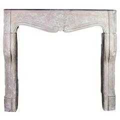 18th C. Regency Period Limestone Antique Fireplace Mantel Burgundy Hardstone