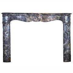 18th Century Grey Marble Antique Fireplace Mantel, Regency Period