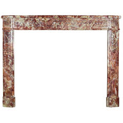 18th Century Royal Marble antique fireplace Mantel