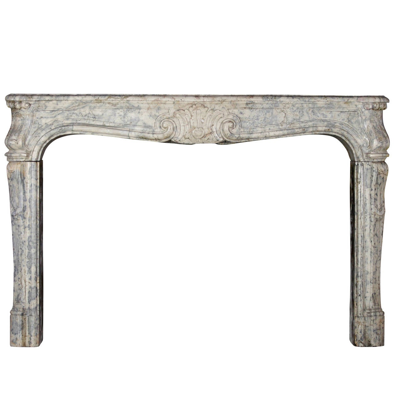 18th Century Unique Hardstone Antique Fireplace Mantel from the Regency Period For Sale