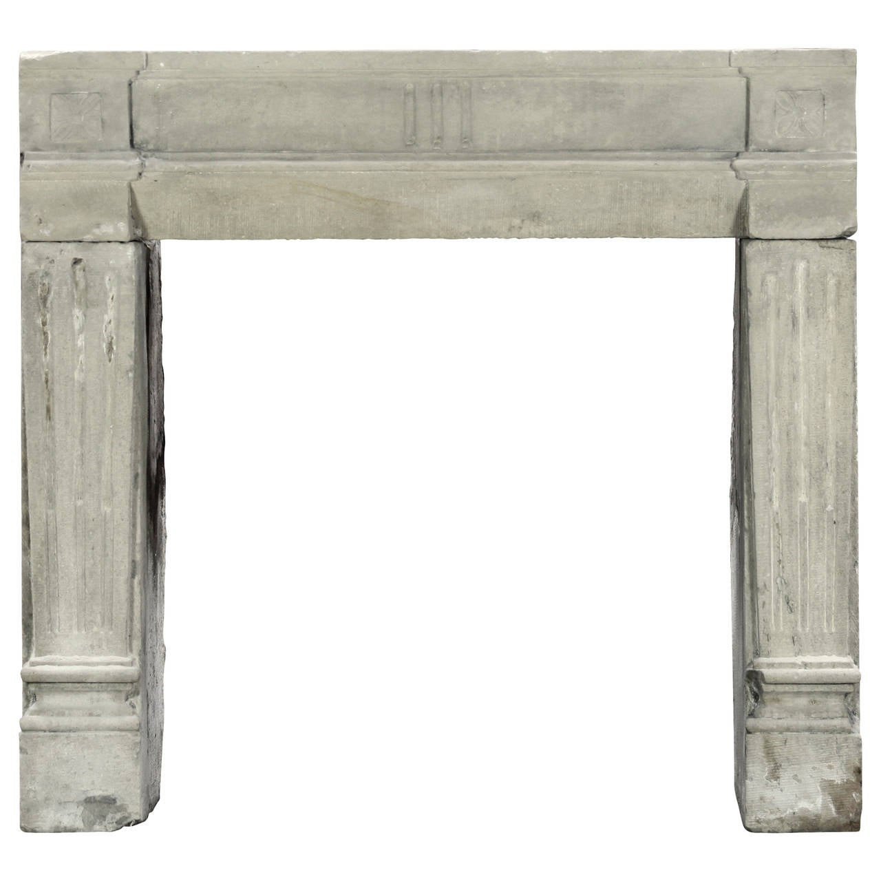 18 century petite grez stone mantel lxvi period 3 solid blocks at 1stdibs - Solid stone fireplace mantels with nice appearance ...
