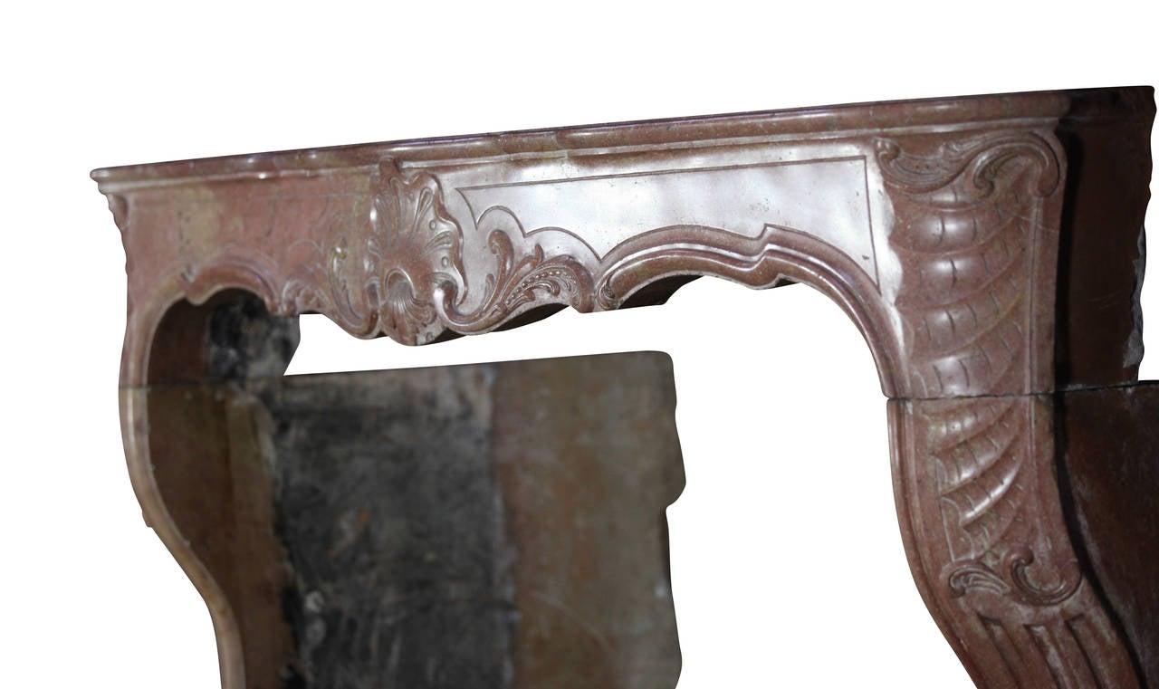 18th Century Impressive Burgundy Hard Stone Antique Fireplace Mantel For Sale At 1stdibs