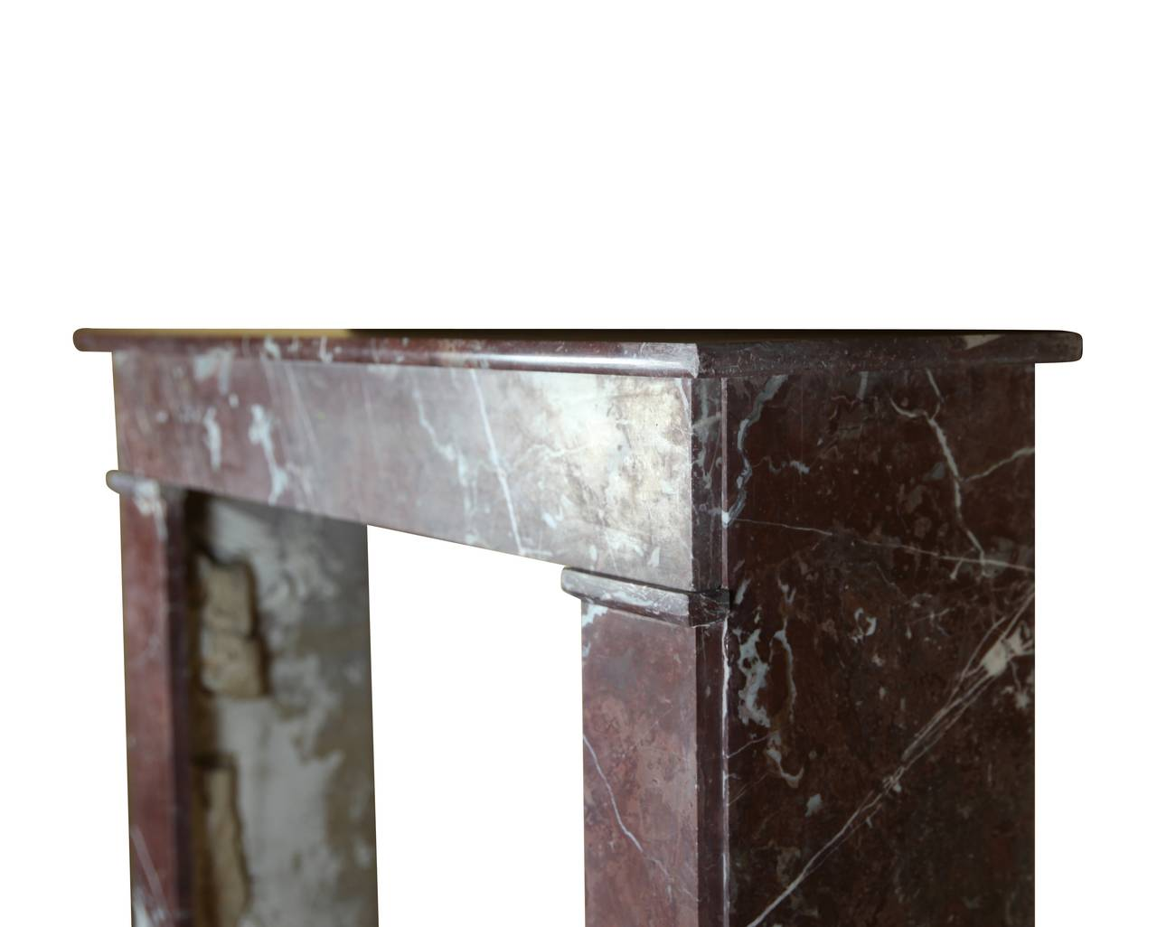 Louis Philippe 19th Century Belgian Marble antique fireplace Mantel For Sale
