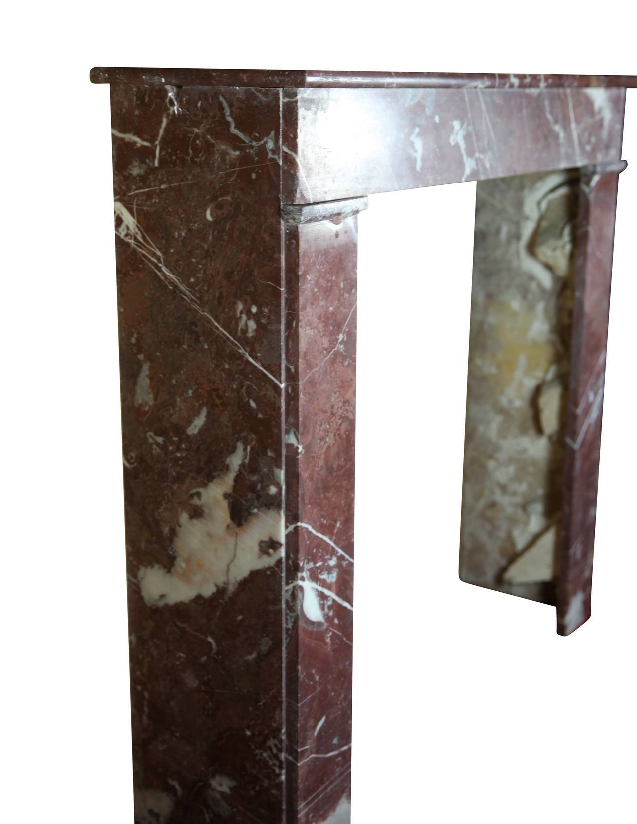 19th Century Belgian Marble antique fireplace Mantel For Sale 1