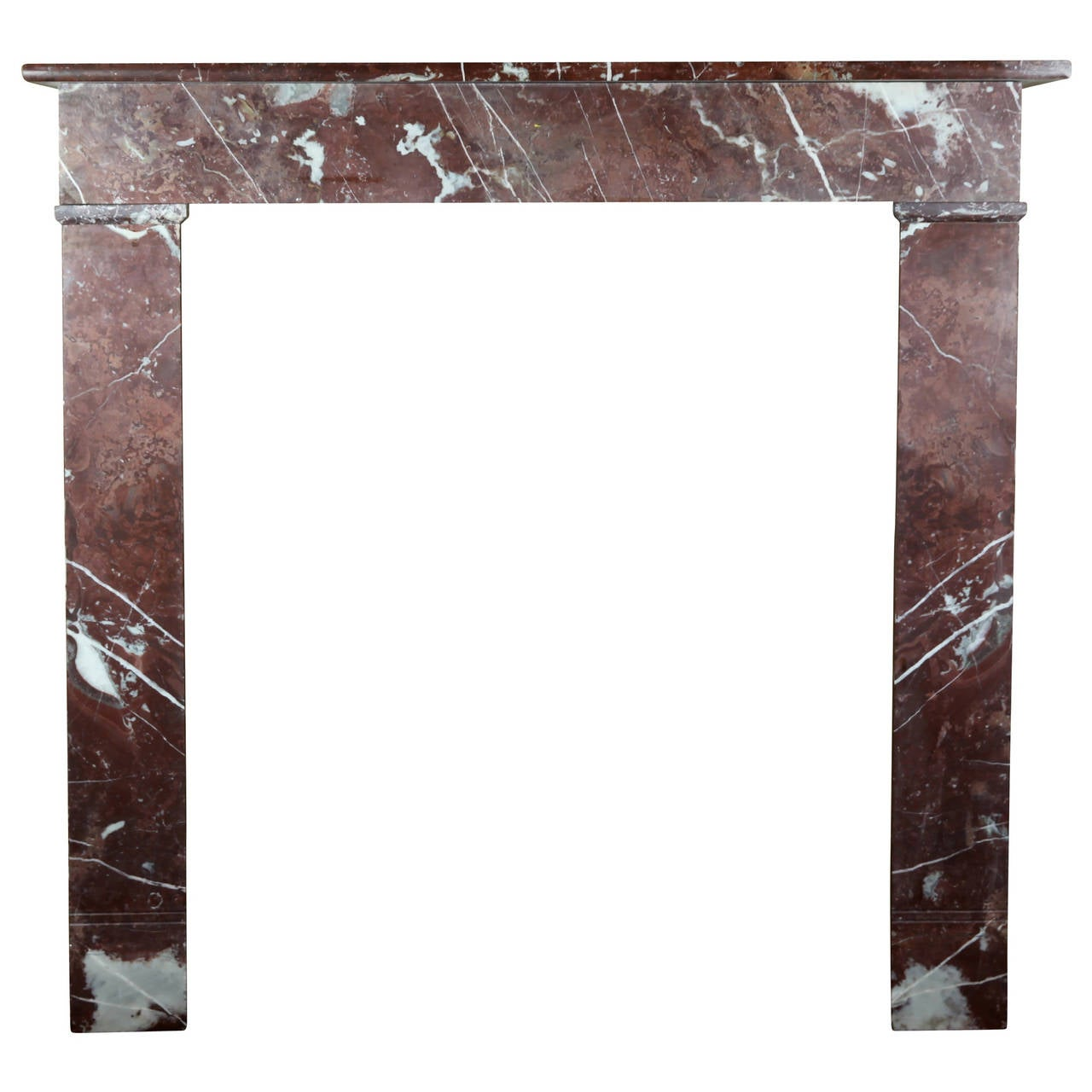 19th century belgian marble antique fireplace mantel for