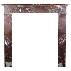 19th Century Belgian Marble antique fireplace Mantel