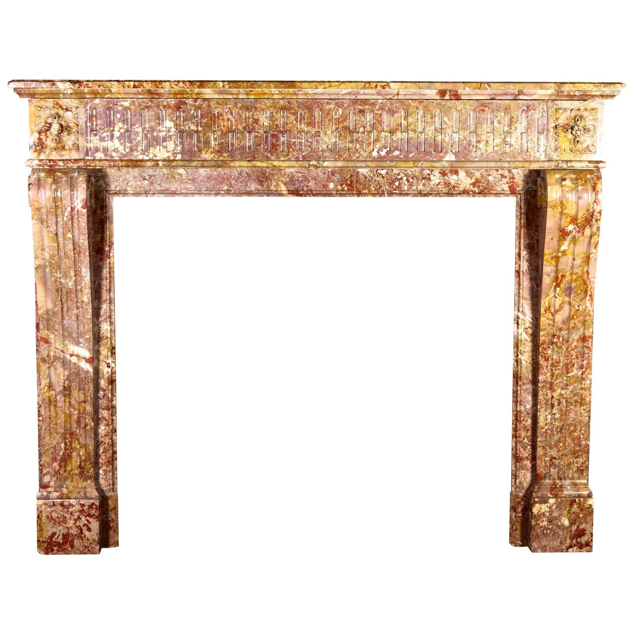 19th Century antique Fireplace mantel in Louis XVI Style