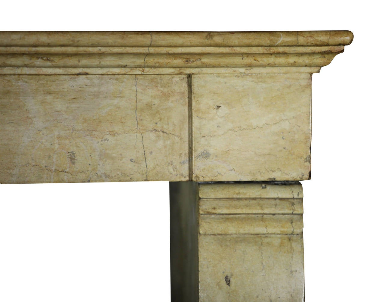 18th century antique fireplace mantel with an envelope
