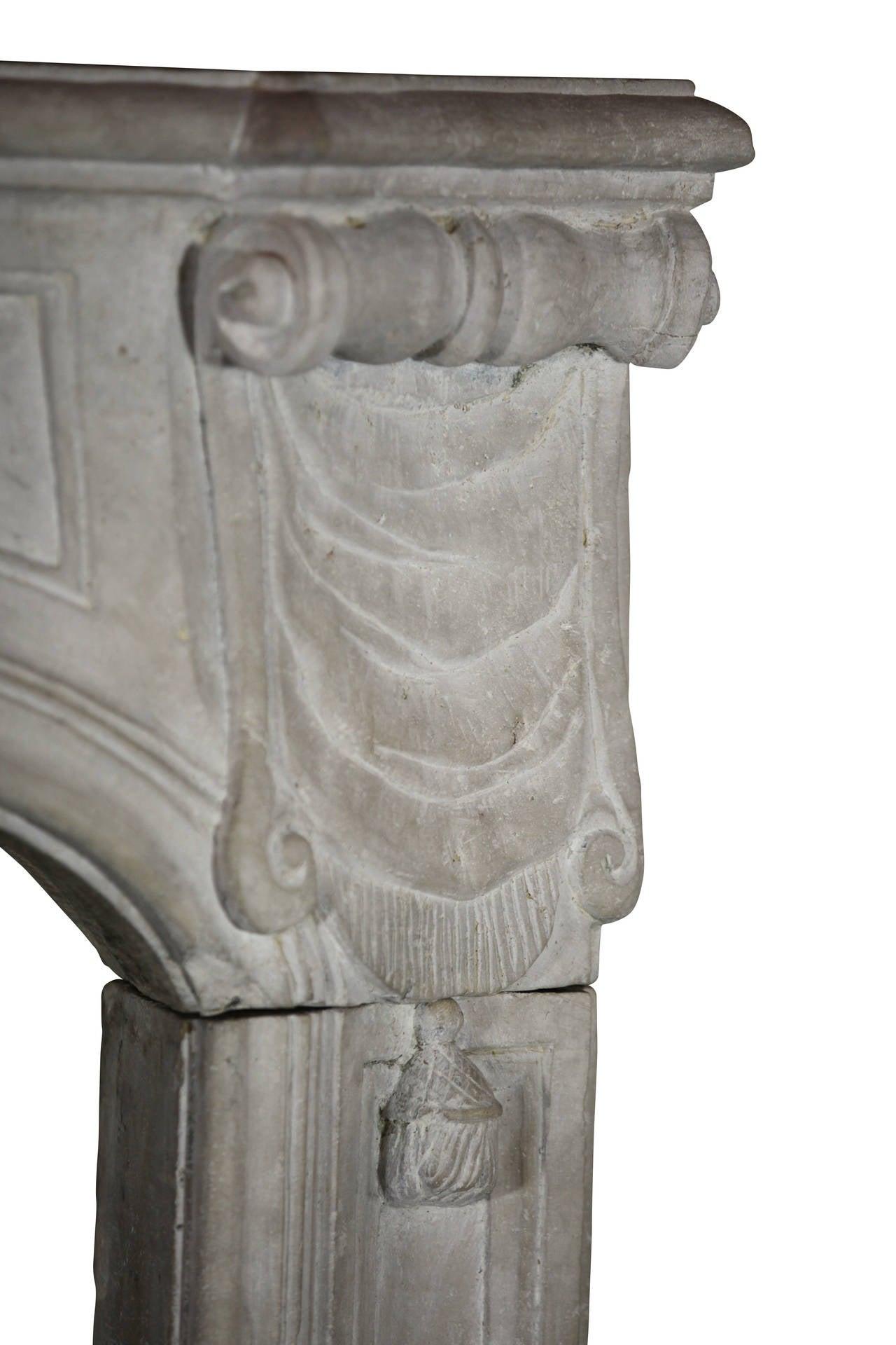 18th Century Regency Period Limestone Antique fireplace Mantel For Sale 2