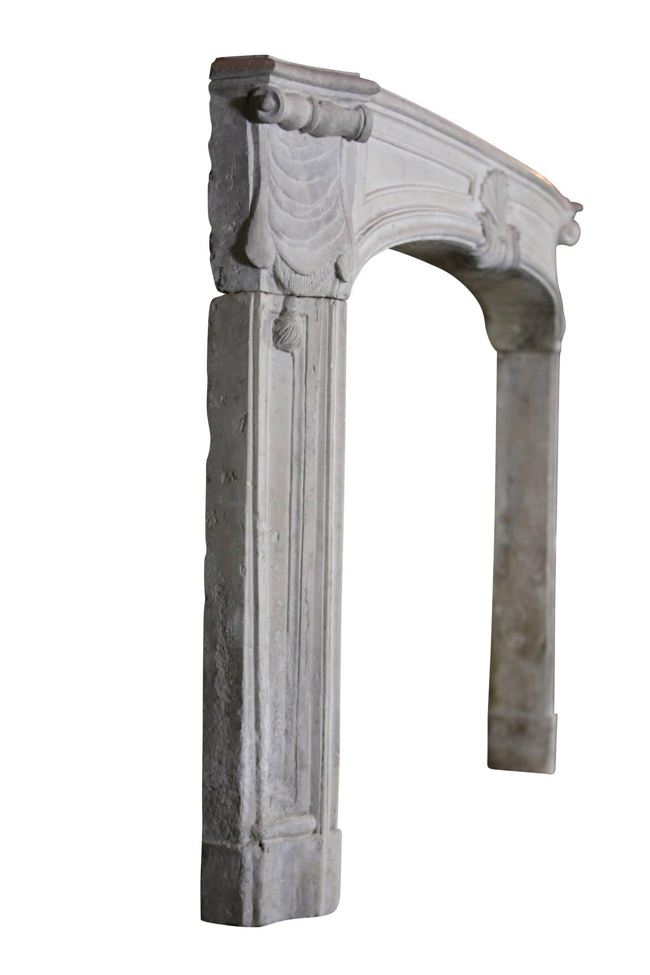 18th Century Regency Period Limestone Antique fireplace Mantel For Sale 4