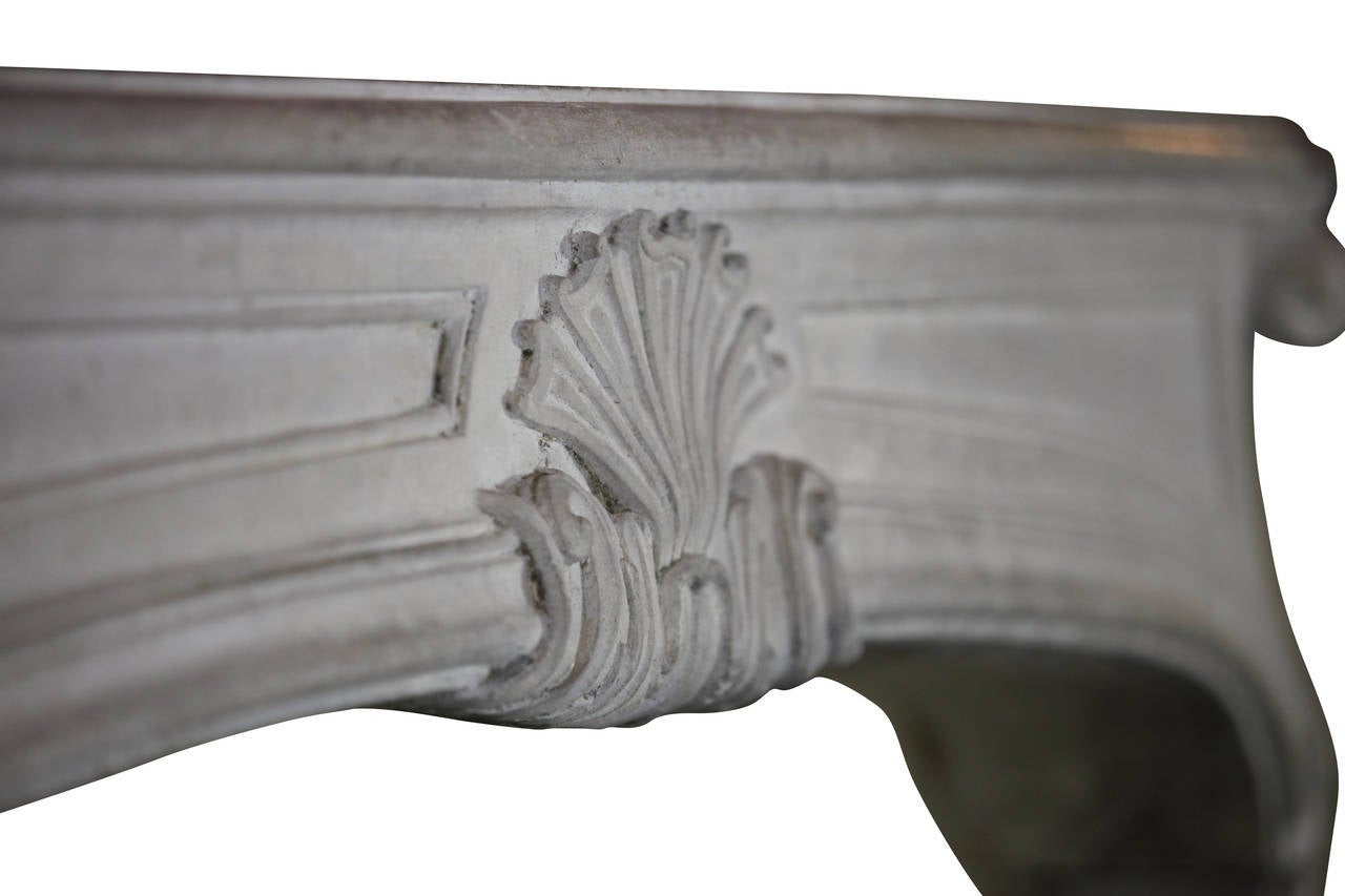 18th Century and Earlier 18th Century Regency Period Limestone Antique fireplace Mantel For Sale
