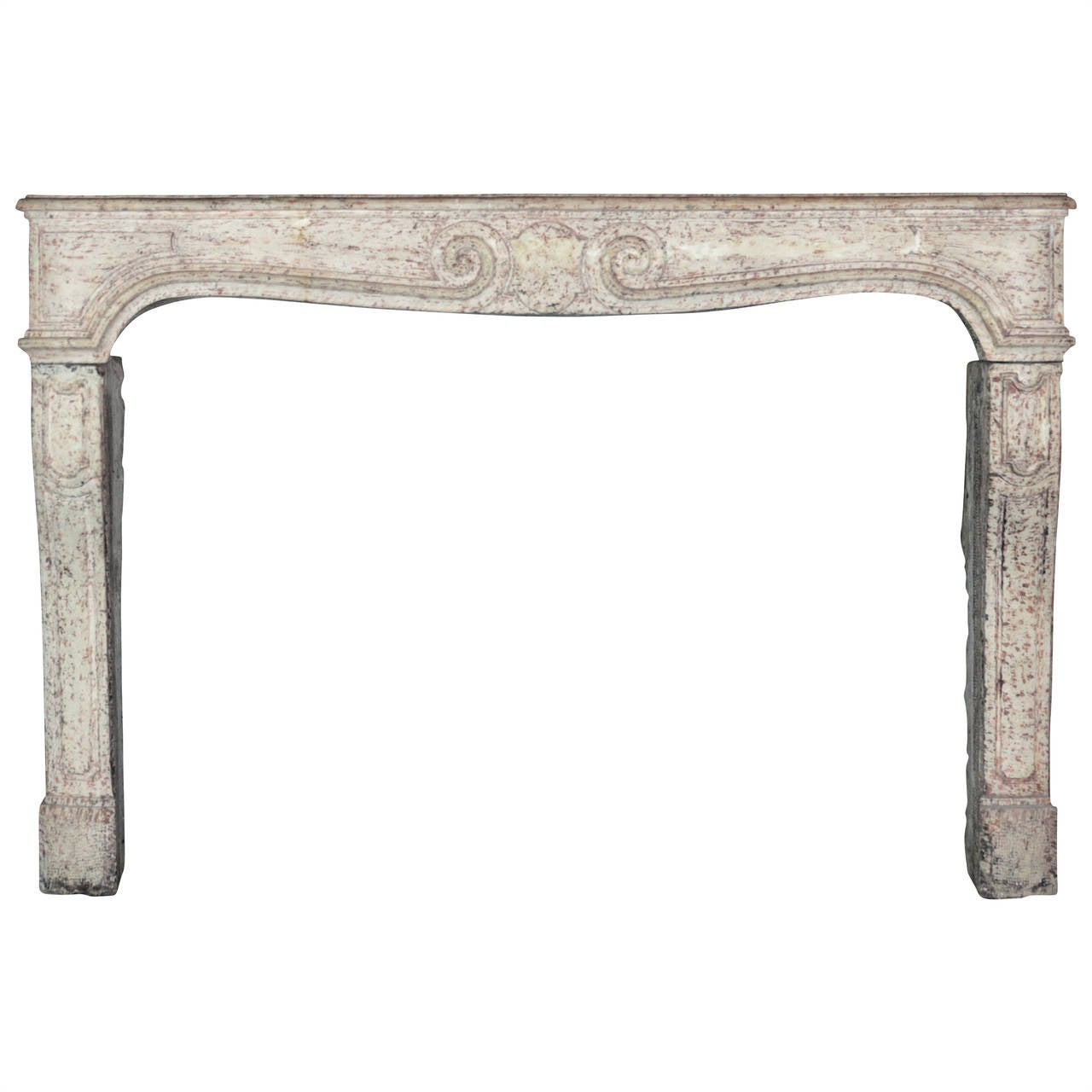 18th Century Stone antique Fireplace Mantel from the Louis XIV Period