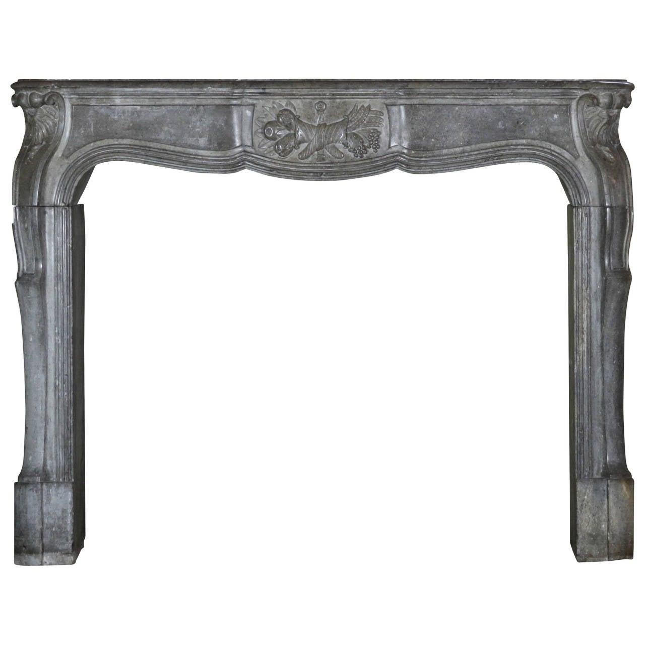 18th Century Louis XIV Transition Regency antique Fireplace Mantel