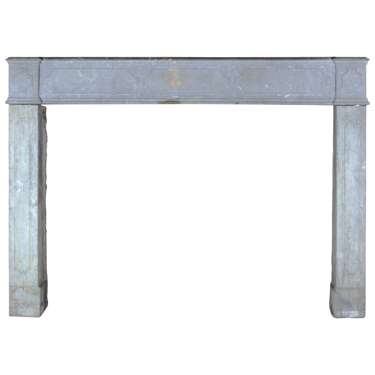 18th Century Stone antique fireplace Mantel, Built in Louis XIV Period