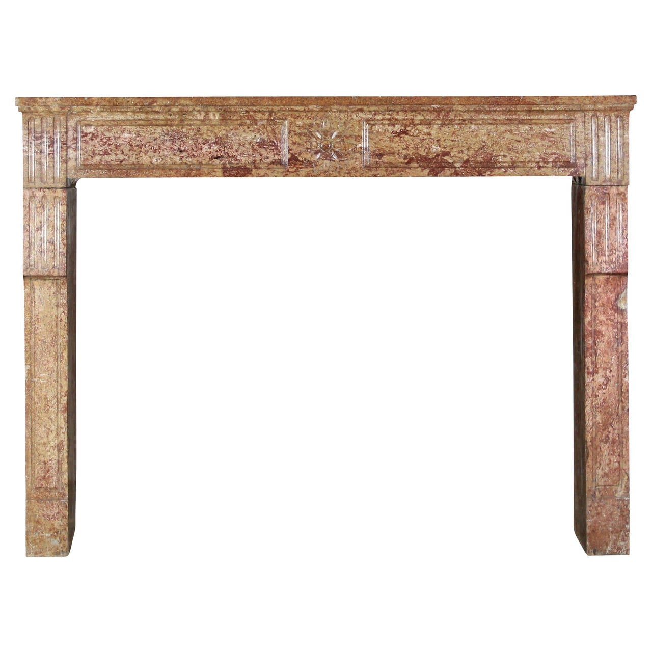 18th Century Stone antique Fireplace Mantel Built in the Louis XVI Period