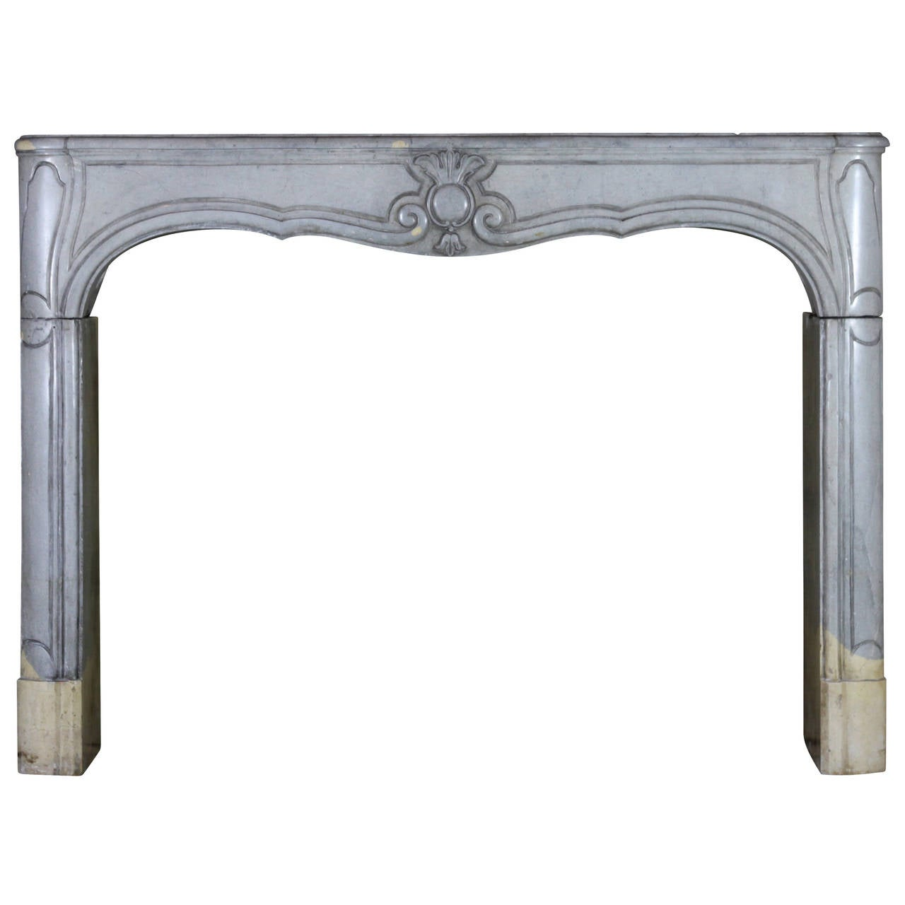 18th Century Louis XIV Period antique fireplace Mantel One of a Pair, Bicolore