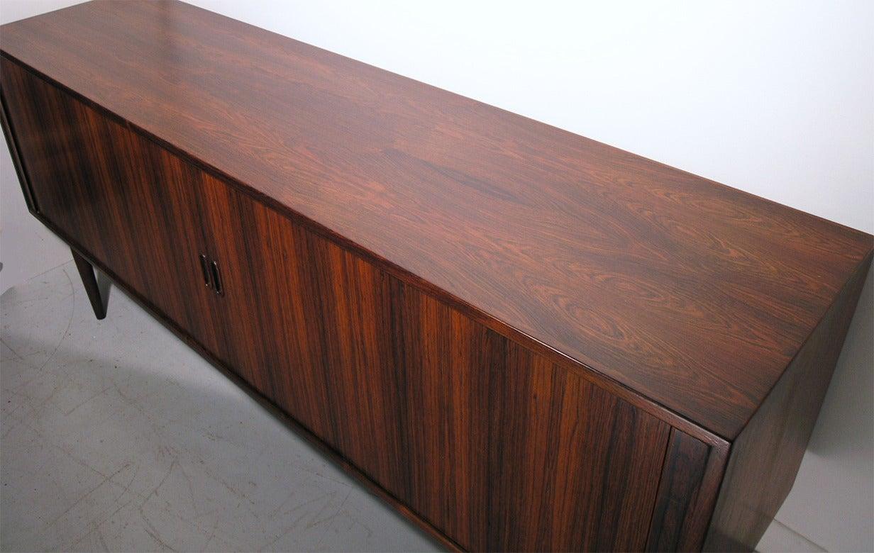 danish rosewood tambour sideboard by arne vodder for sibast image 7. Black Bedroom Furniture Sets. Home Design Ideas