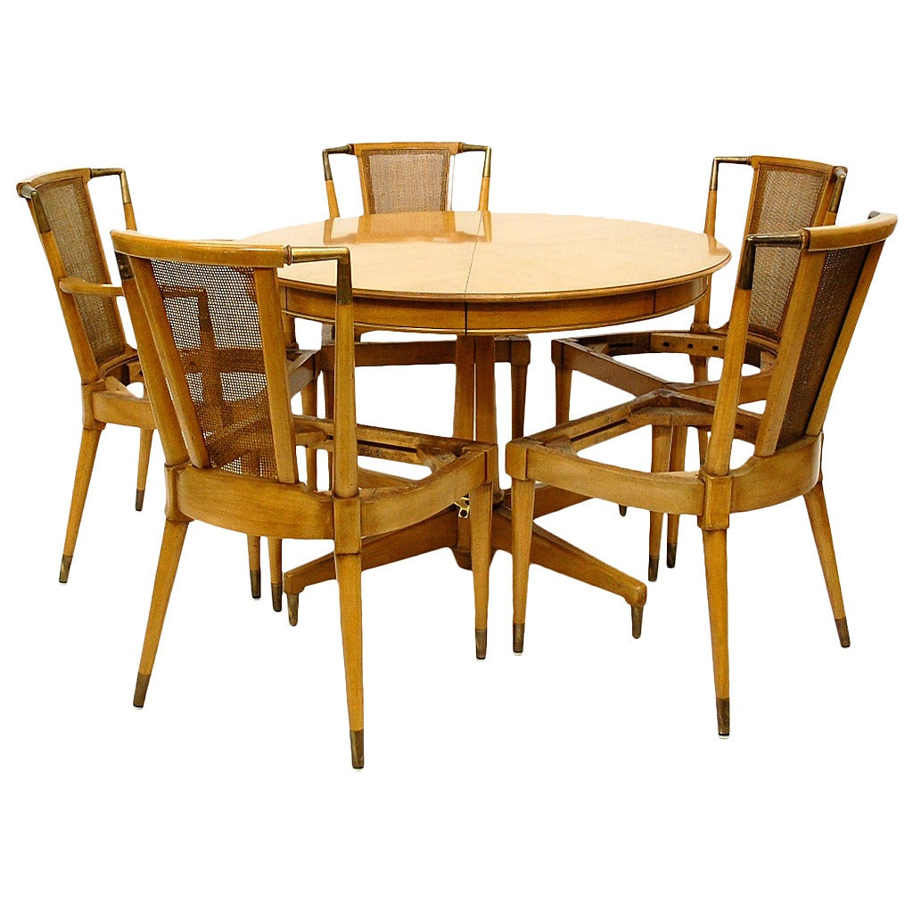 Mid Century Dining Set By JL Metz For Sale