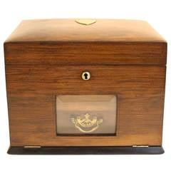 1920s Highly Figured Walnut Jewel Box, All Original