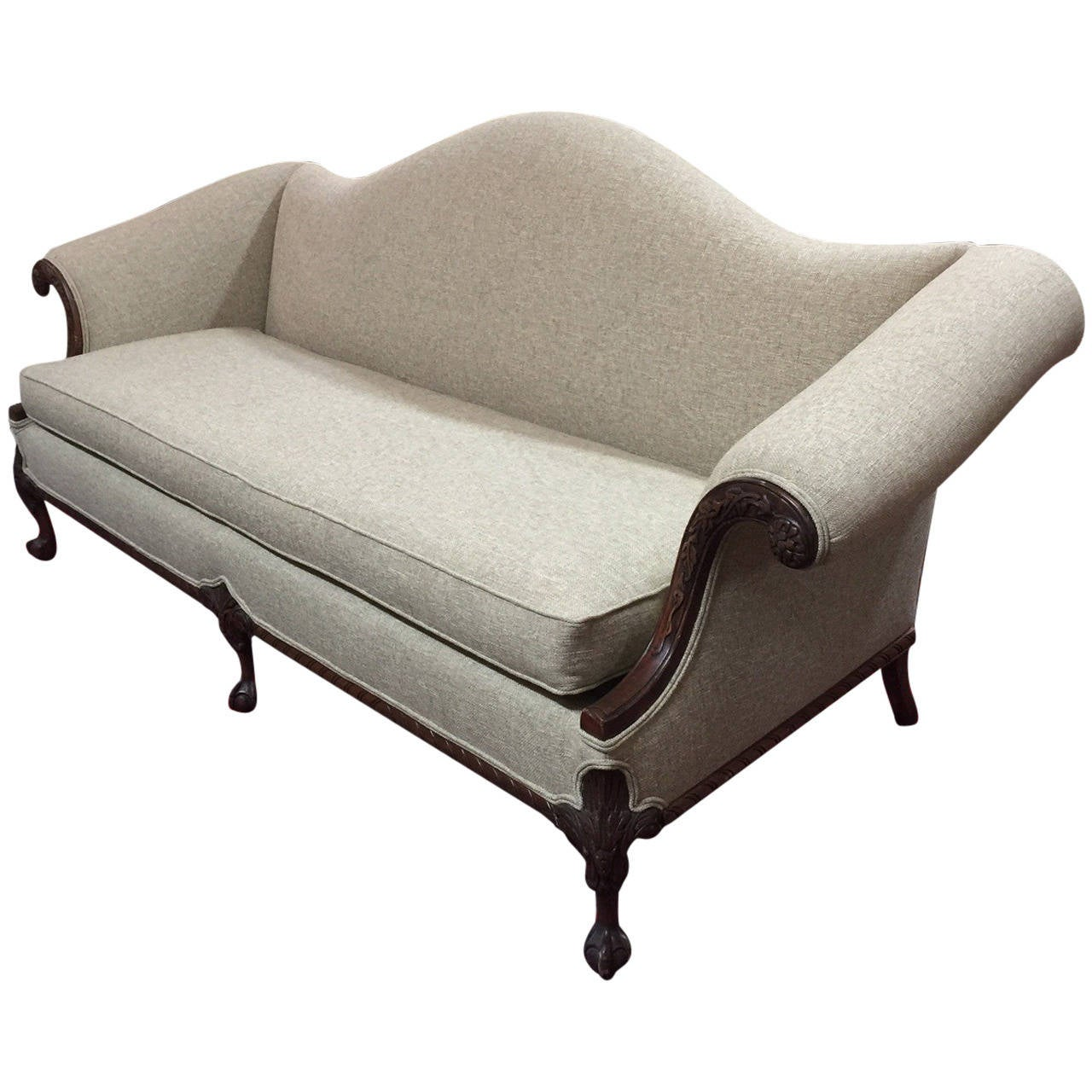 Chippendale Style Sofa Completely Refurbished At 1stdibs