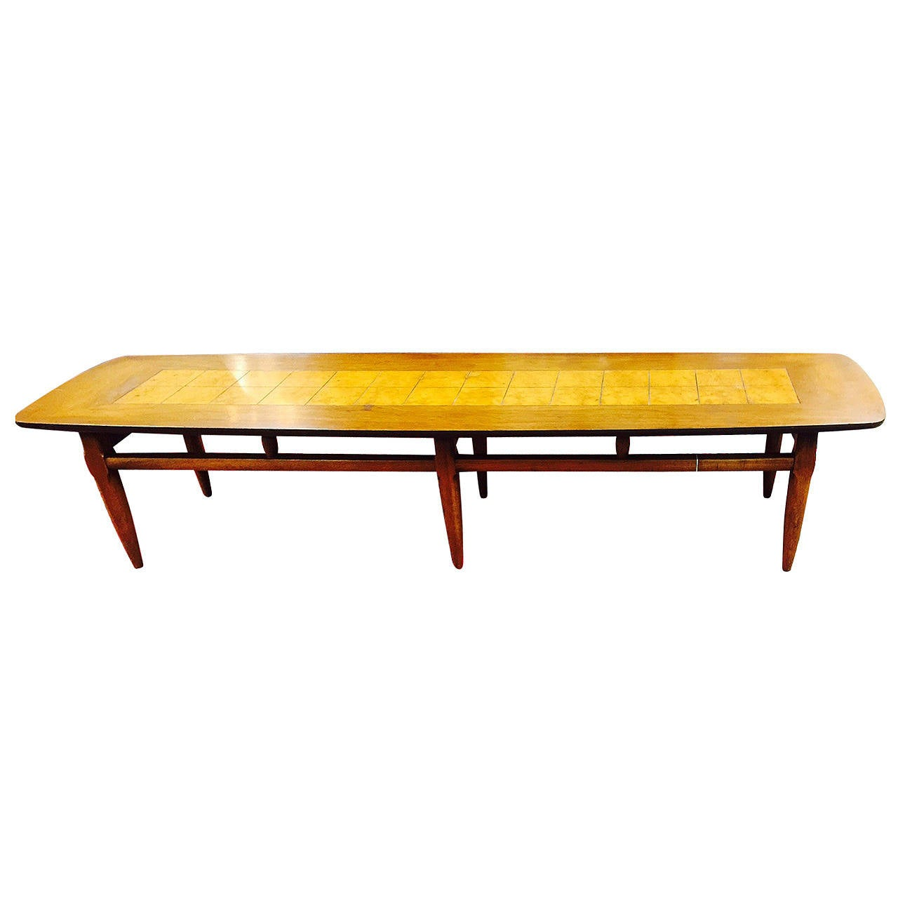 Mid century modern lane surfboard coffee table at 1stdibs Mid century coffee tables
