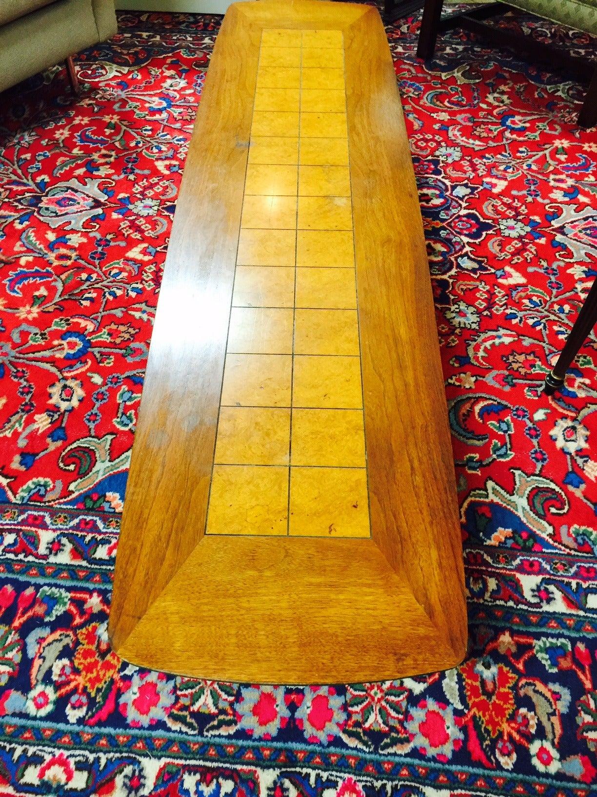 "Mid Century Modern Lane ""Surfboard"" Coffee Table at 1stdibs"