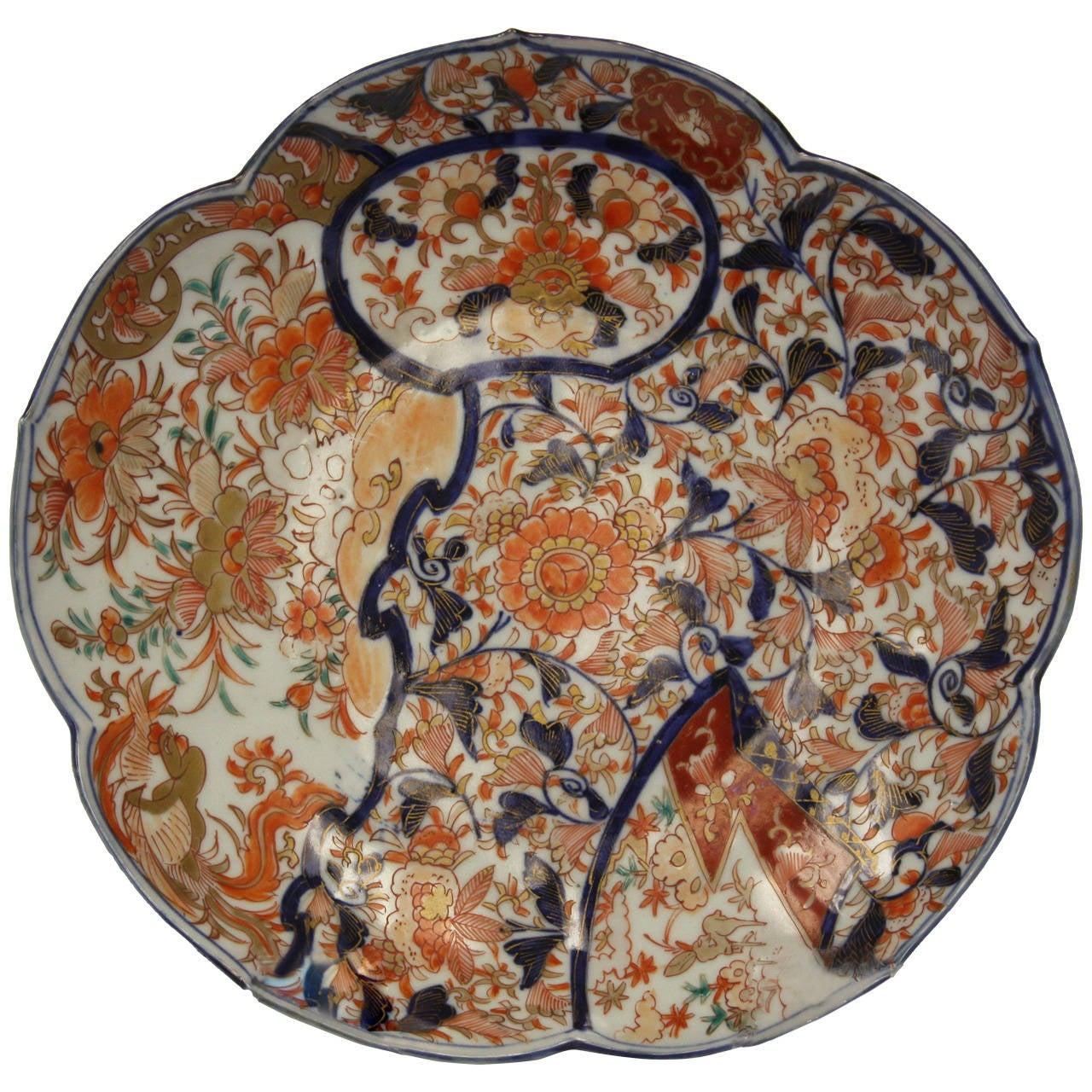 18th Century Imari Charger Bowl At 1stdibs