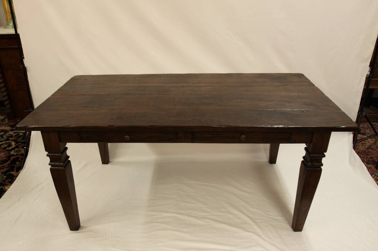 21st Century Reproduction French Farmhouse Table For Sale at 1stdibs