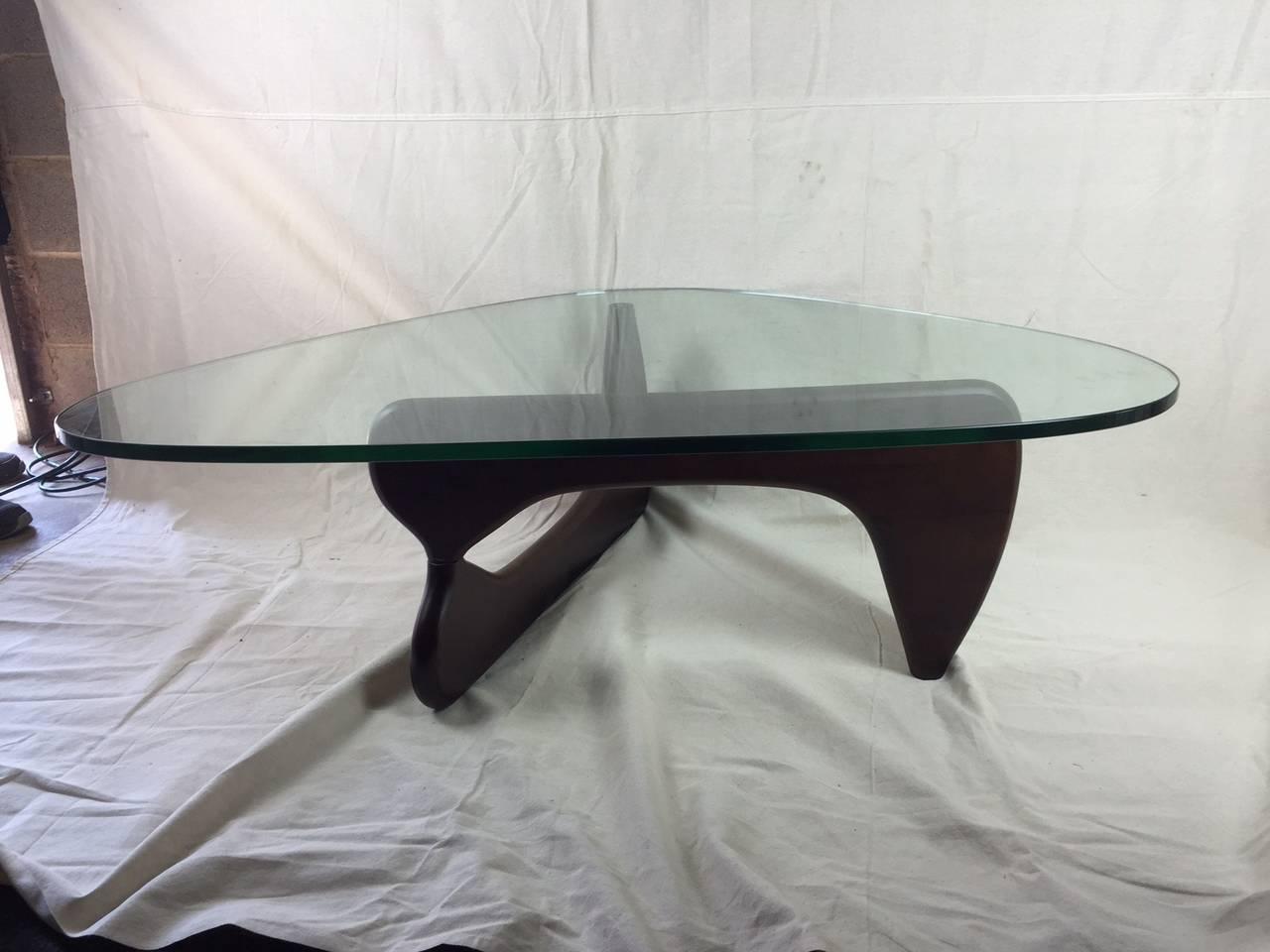 Isamhu Noguchi Inspired Glass Coffee Table At 1stdibs