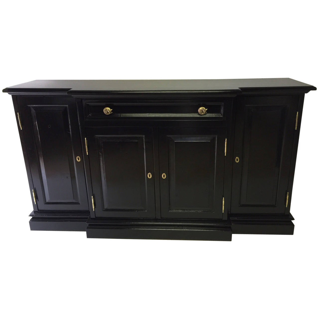 Pine black lacquered sideboard at 1stdibs for Sideboard pinie