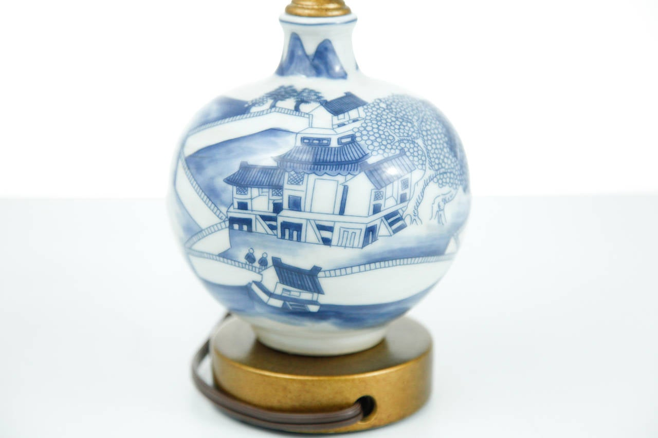blue and white chinese canton mini lamp for sale at 1stdibs. Black Bedroom Furniture Sets. Home Design Ideas