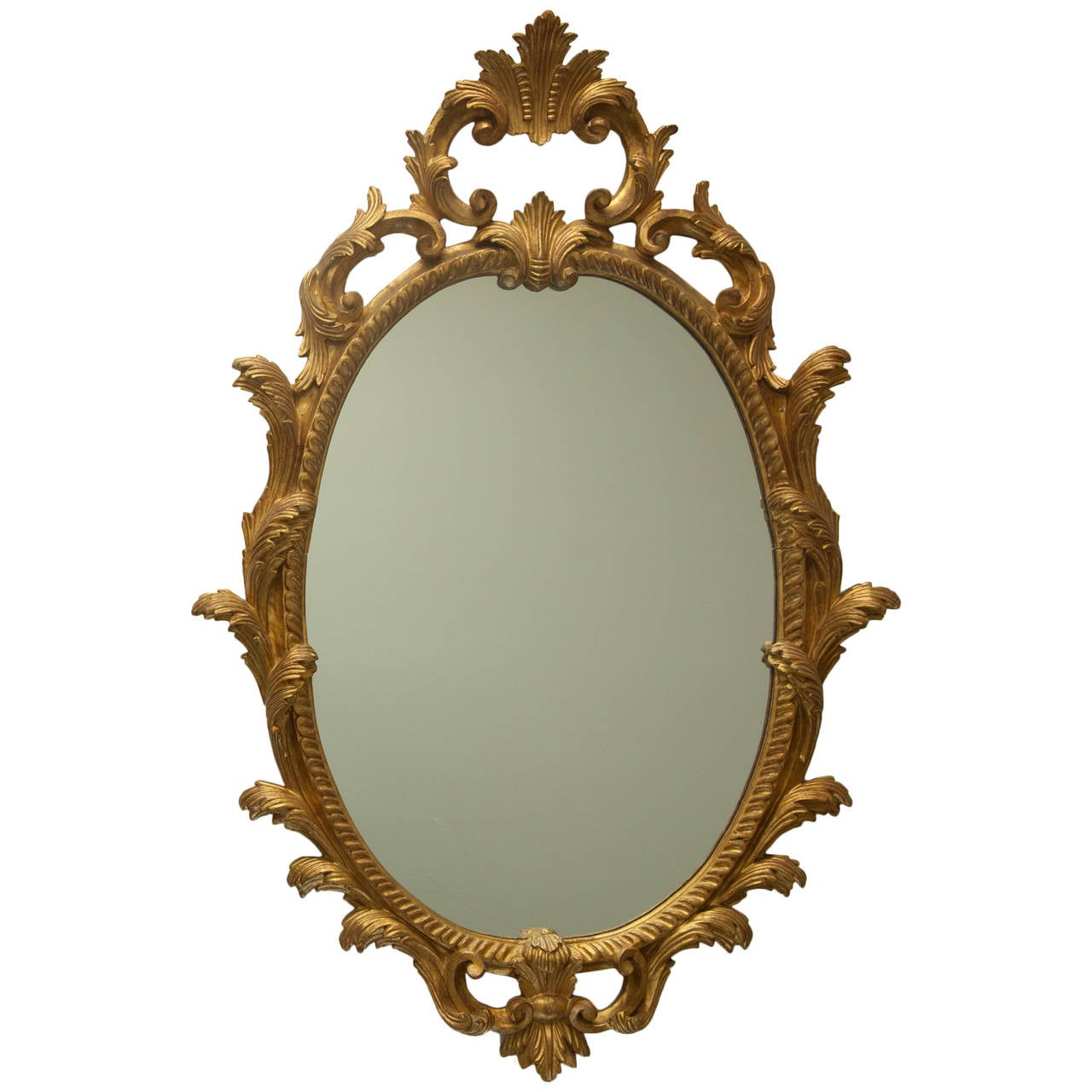 Italian hand painted carved wooden mirror for sale at 1stdibs for Wooden mirror