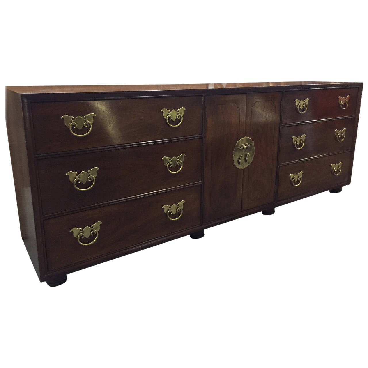 Vintage Henredon Dresser With Asian Influence At 1stdibs