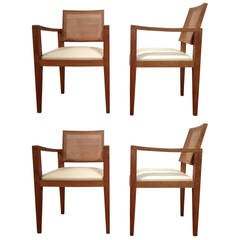 French Set of Four Armchairs of Emile Seigneur