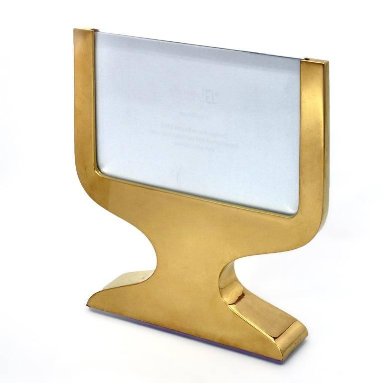 Hand-Crafted Italian Modern Gilt  Silver Double Picture Frame, Equilibrium Gold  For Sale