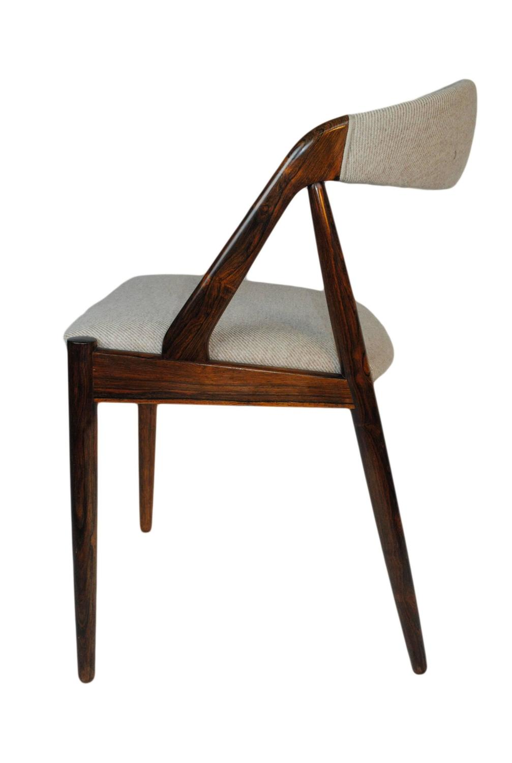 Set Of Six Rosewood Kai Kristiansen Dining Chairs At 1stdibs