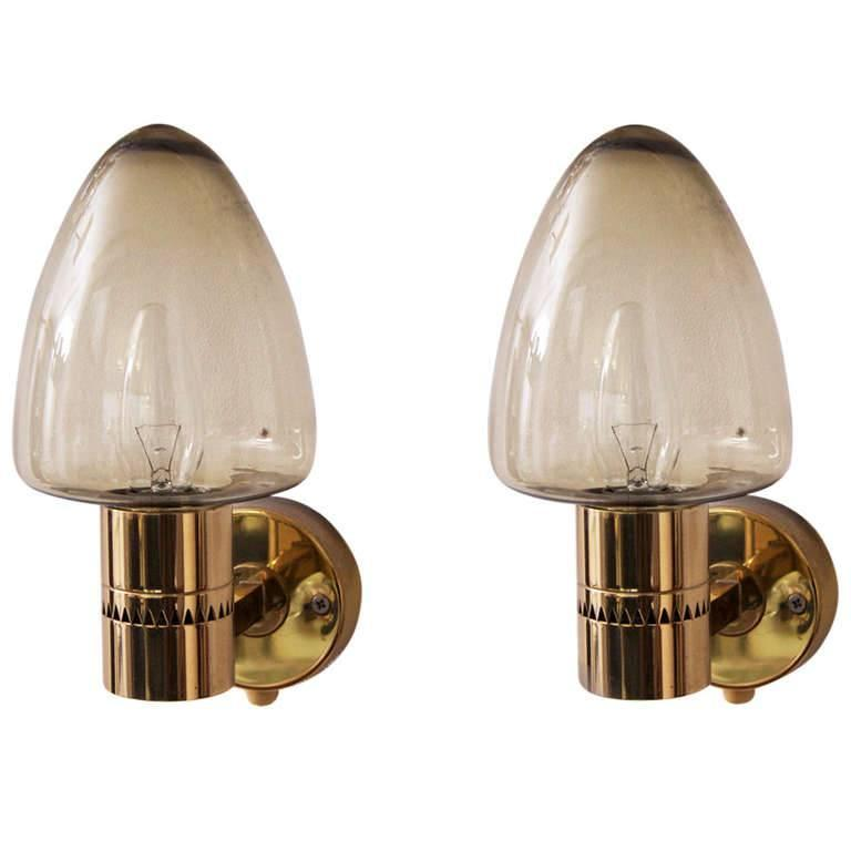 Pair of 1960s Wall Sconces by Hans-Agne Jakobsson for Markaryd, Sweden