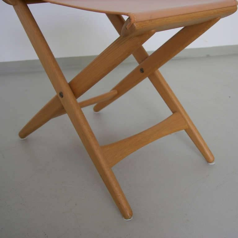 Scandinavian Modern Folding Stool by Uno and Östen Kristiansson for Luxus Vittsjö For Sale