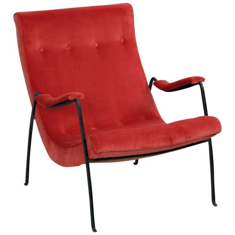 Milo Baughman Scoop Arm Chair In Missoni Velvet By Thayer Coggin At 1stdibs