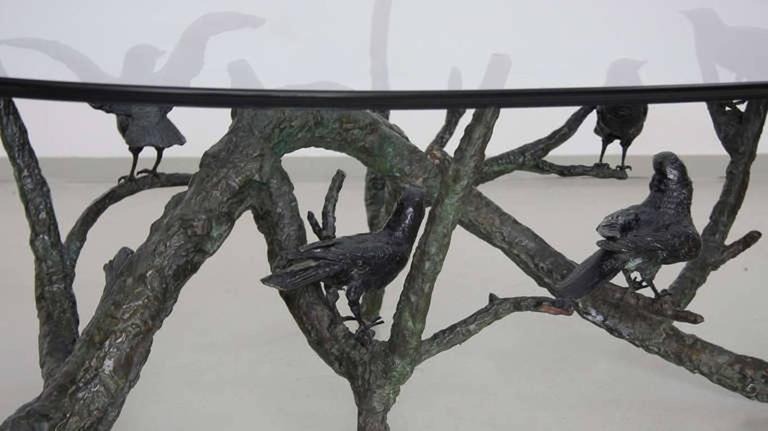Terrific Large And Heavy Bronze Tree Birds Coffee Table In The Manner Of Giacometti Uwap Interior Chair Design Uwaporg