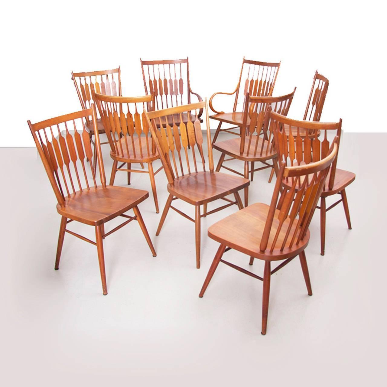 "Set Of Ten Kipp Stewart For Drexel ""Centennial"" Chairs For"