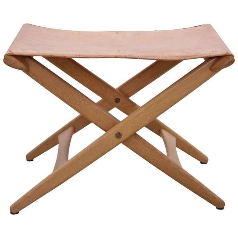 Folding Stool by Des. Uno and Östen Kristiansson for Luxus Vittsjö